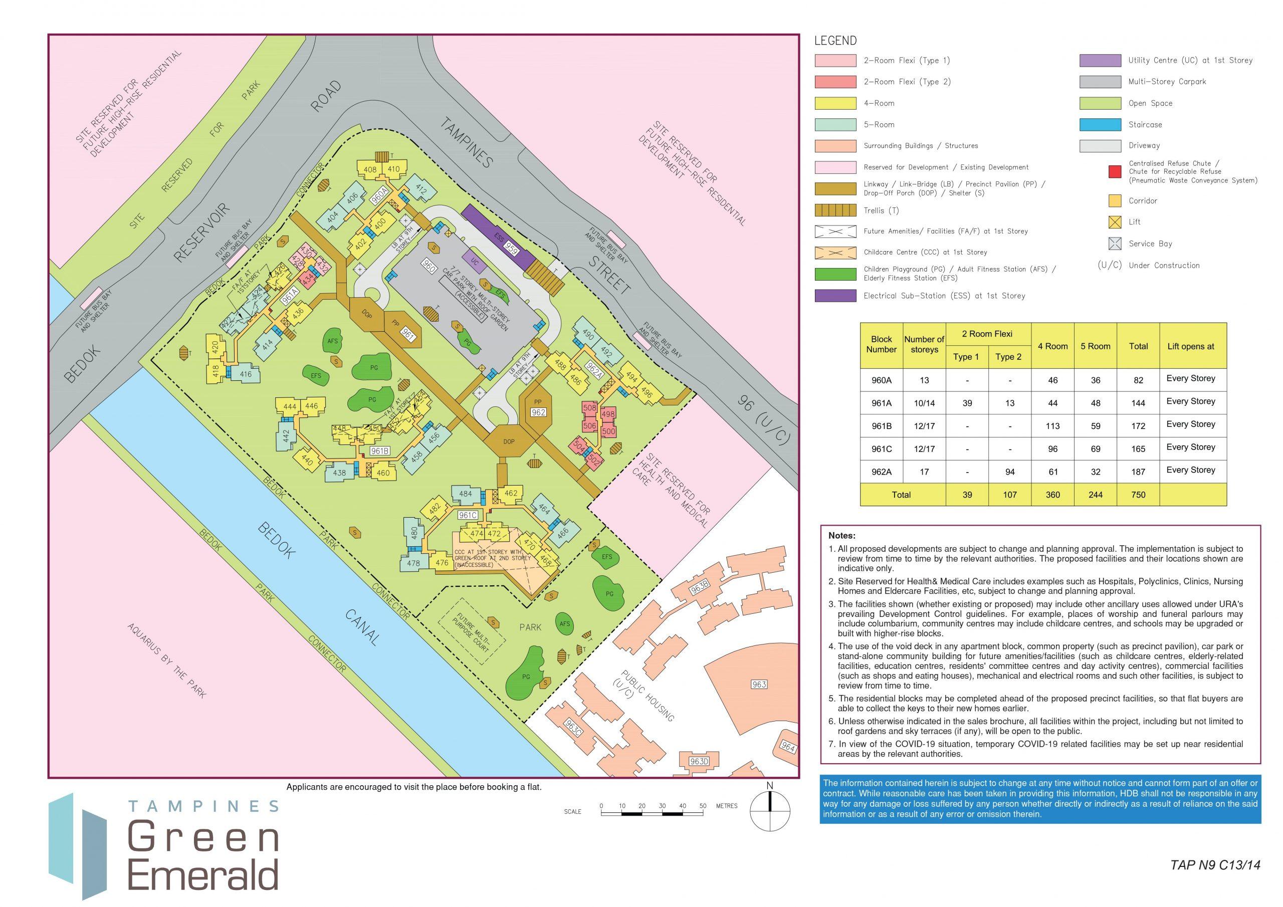 tampines greenemerald bto site plan