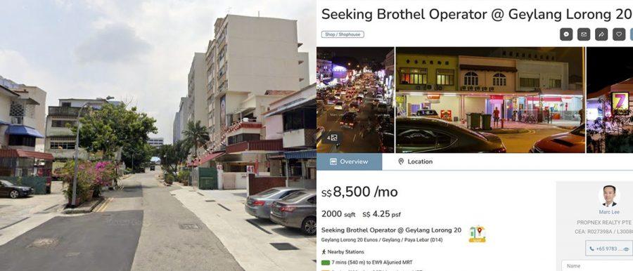 geylang shophouse brothel operator property agent