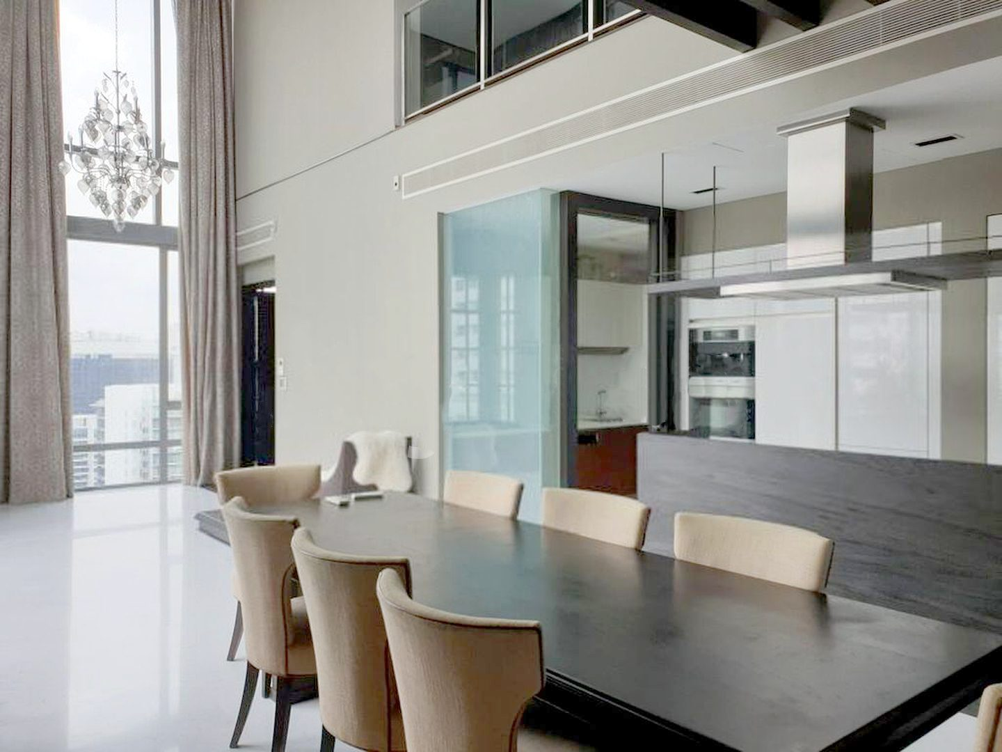 helios residences penthouse living dining room
