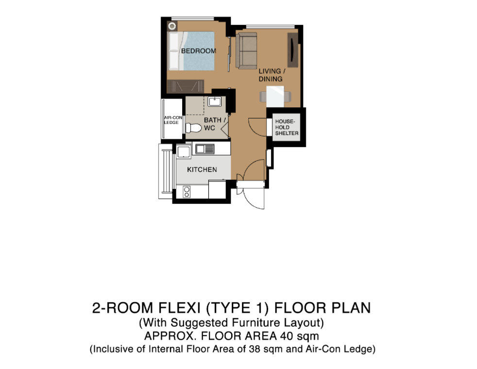 two room flexi floor plan tengah hdb bto flat