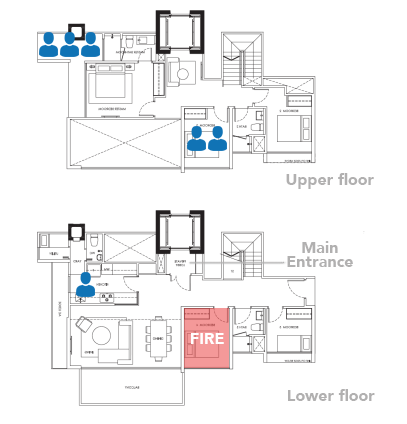 waterwoods condo fire diagram