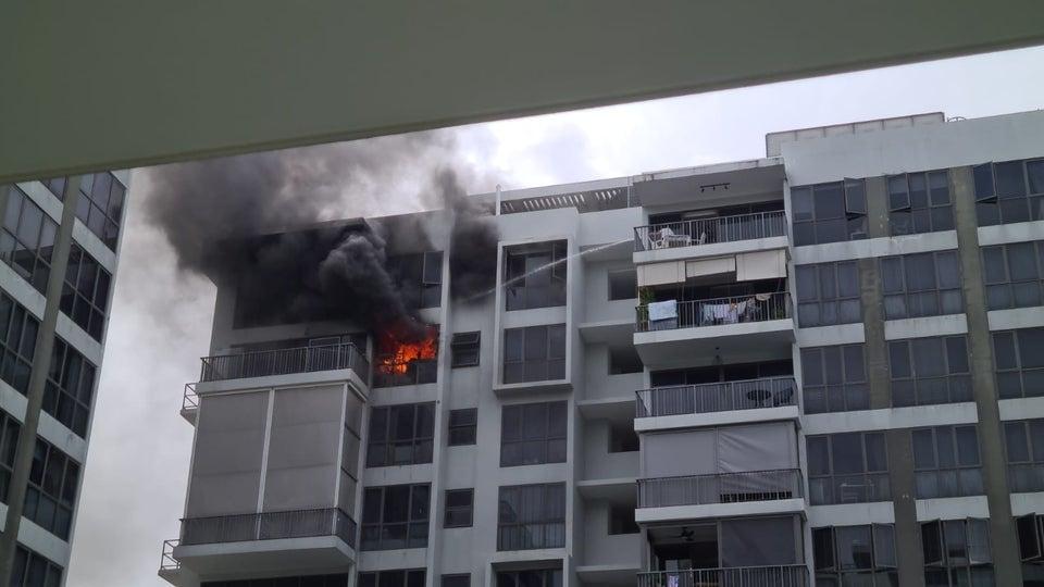 waterwoods condo fire neighbour help