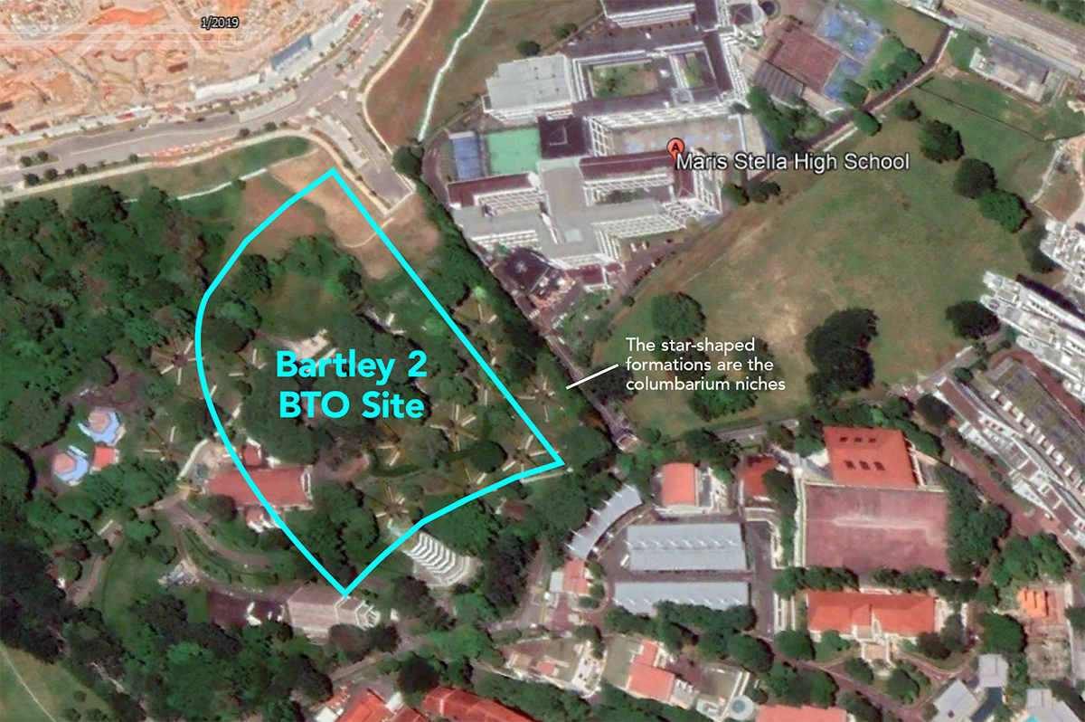 bartley bto site bidadari columbarium location map
