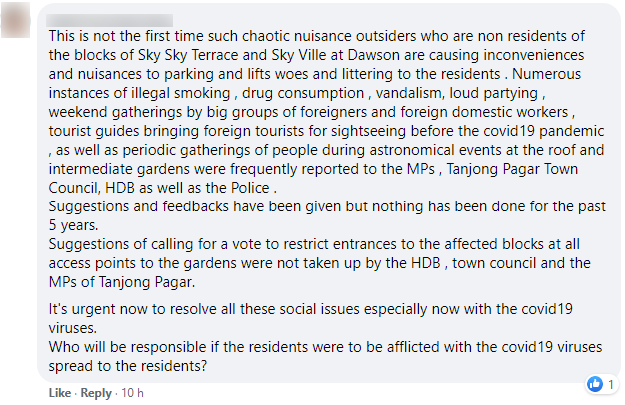 dawson facebook comment 4