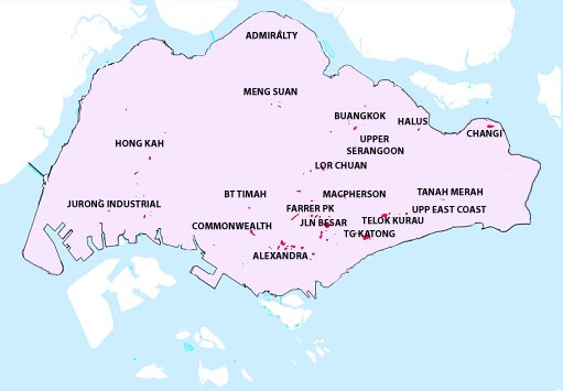 flood prone areas in singapore map
