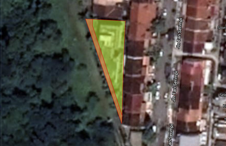 Jalan Tari Zapin encroachment outline