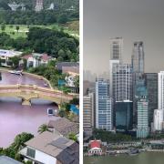 sentosa cove pink water singapore