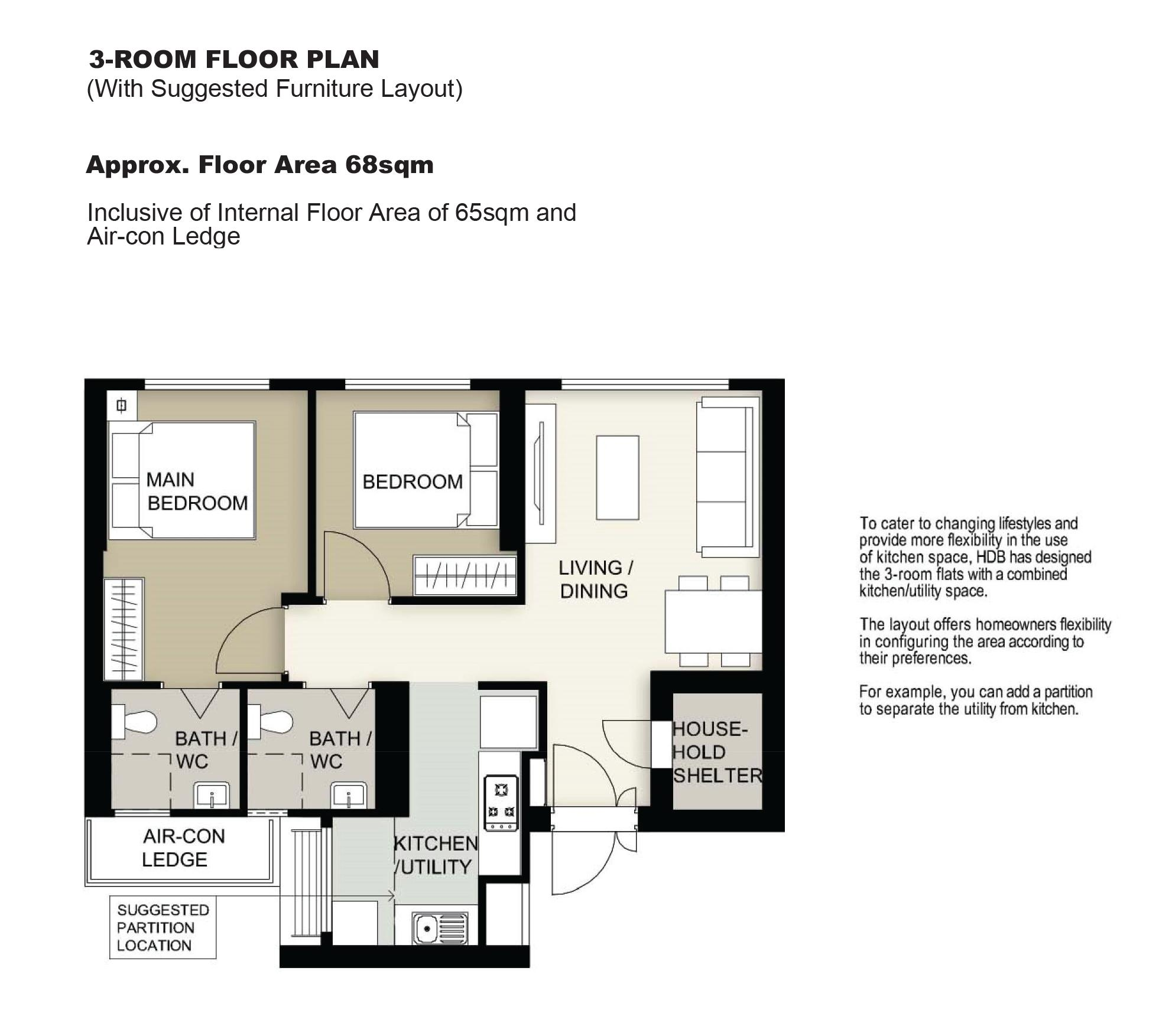 hdb feb 2021 bto mcnair heights floor plan