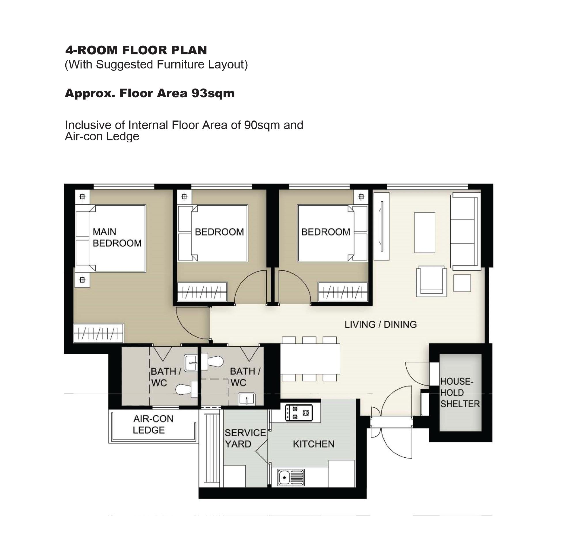 HDB feb 2021 McNair Heights 4-room floor plan