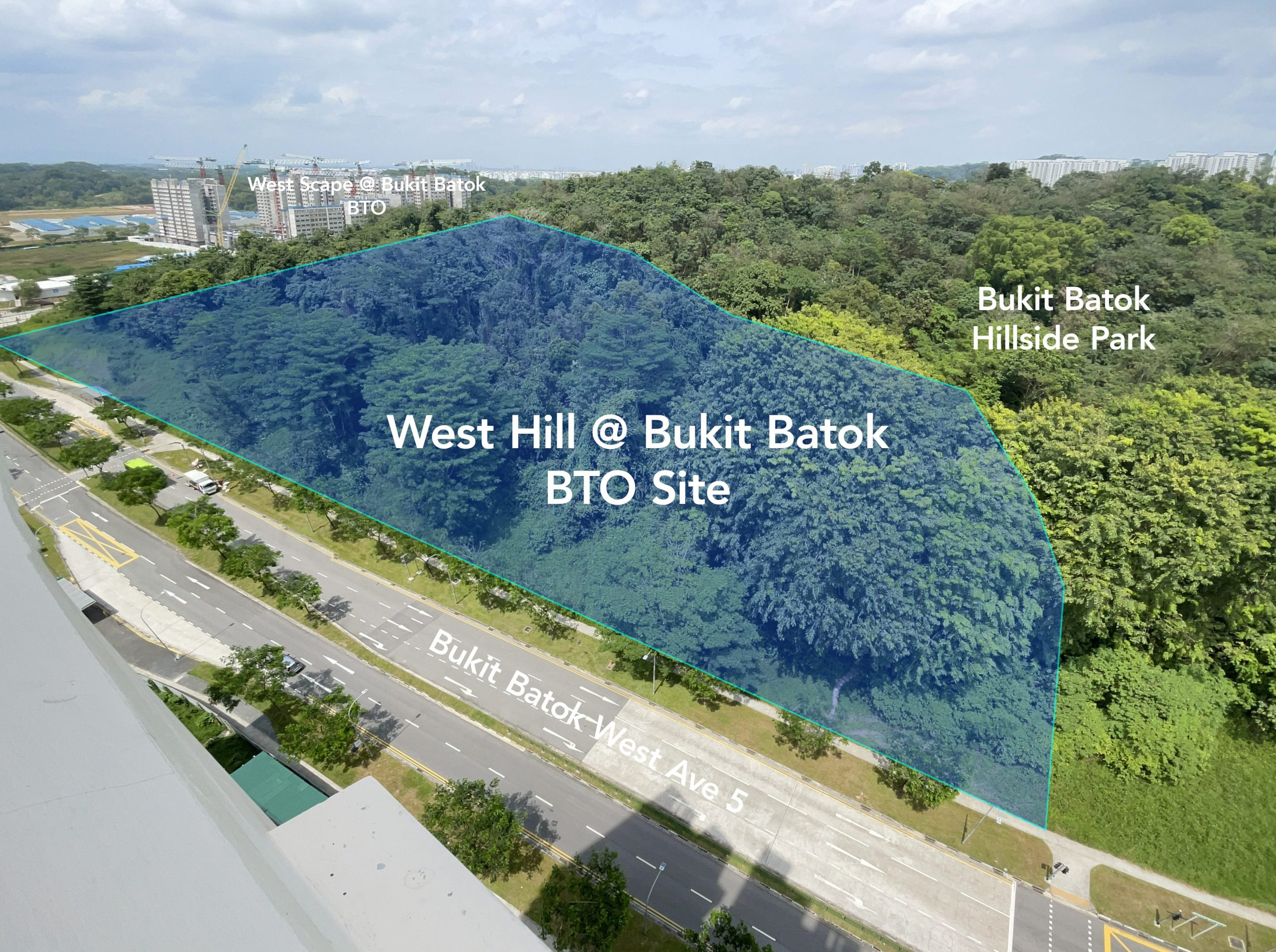 west hill bukit batok bto site