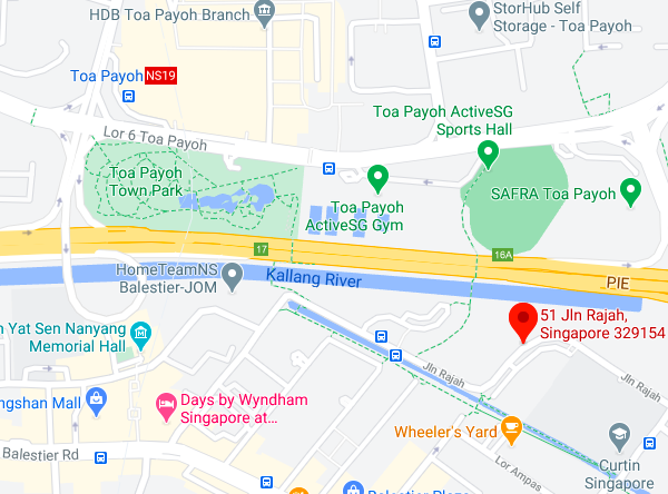 Screenshot of Google Maps showing location of the Balestier site
