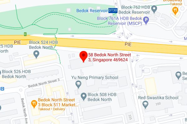Screenshot of Google Maps showing location of the Bedok site