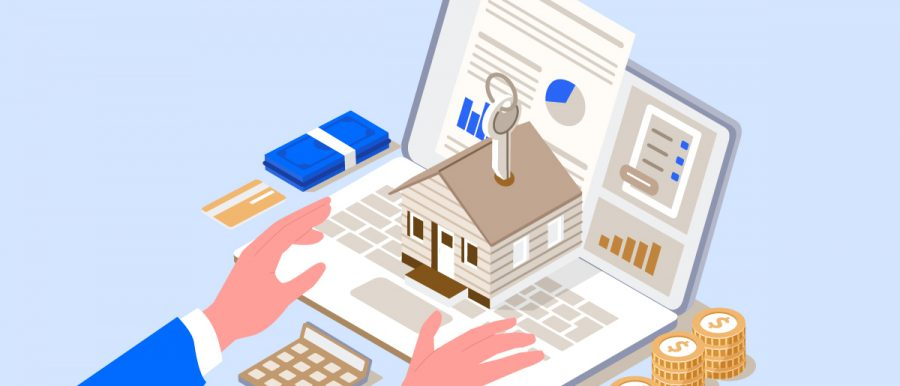 Illustration of someone planning their mortgage