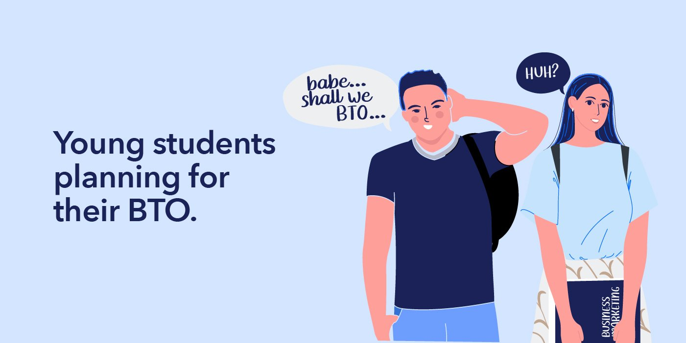 Illustration of students planning to BTO
