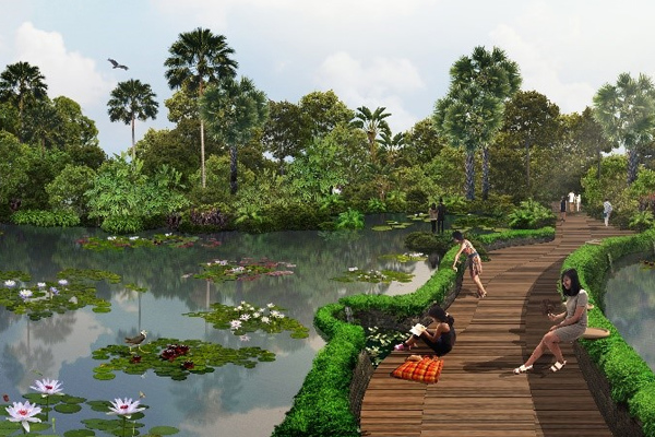 Artist's impression of Jurong Lake Gardens