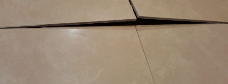 Tiles popping up in an HDB flat