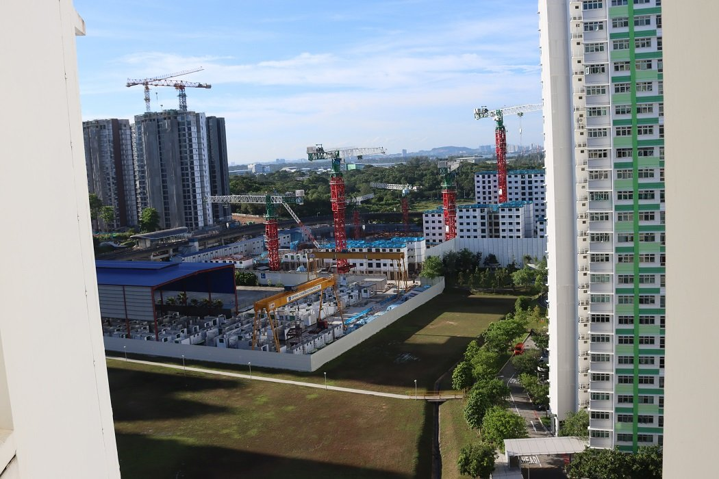 Construction of apartments in Singapore