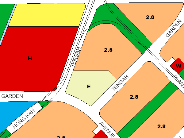 Segment of URA master plan of Tengah