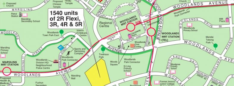 Locality map of the May 2021 BTO in Woodlands