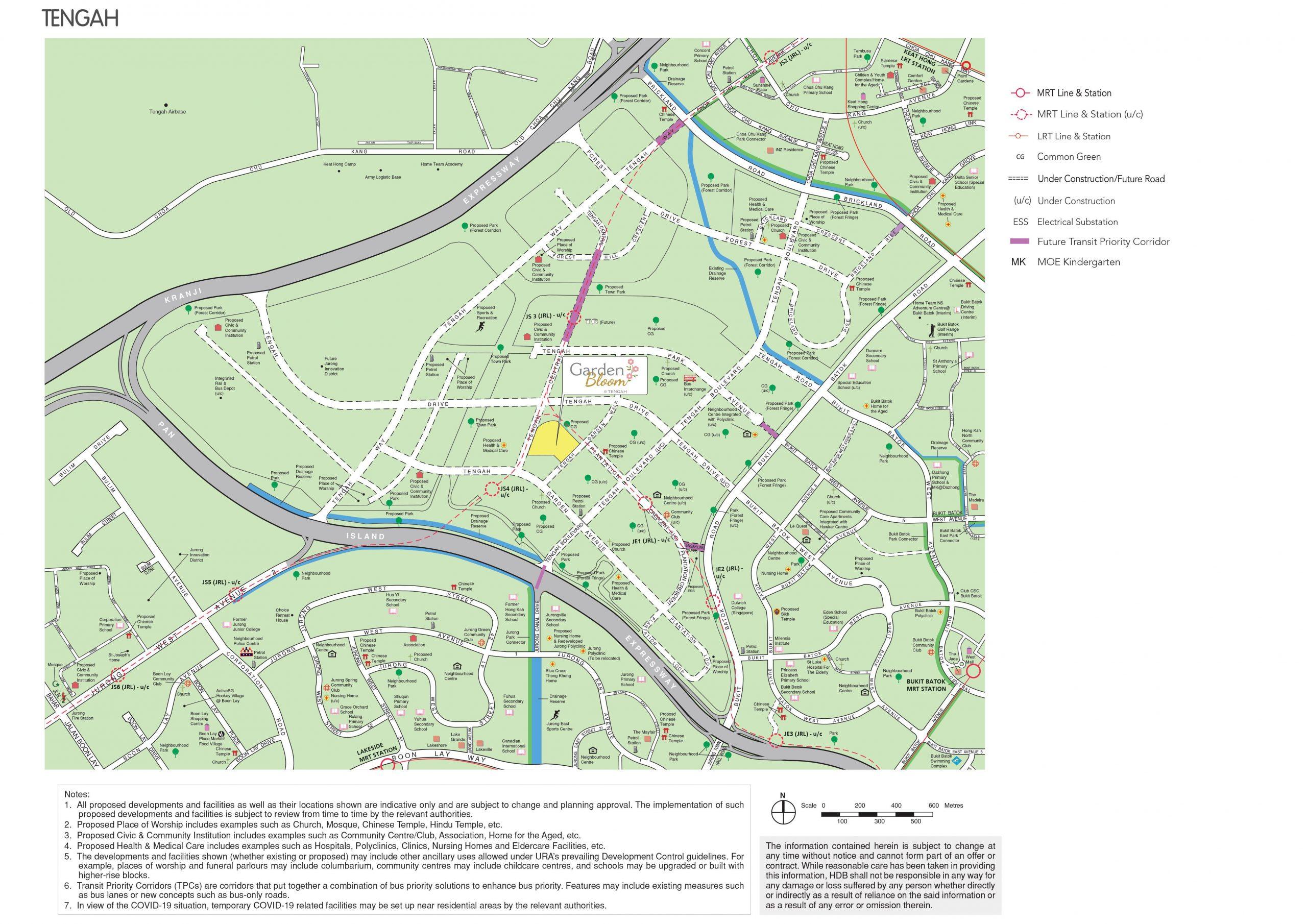 May 2021 Tengah BTO full map