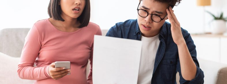 Couple stressed by the increased rent