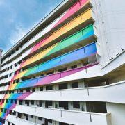 Rainbow HDB painted facade LGBTQ+