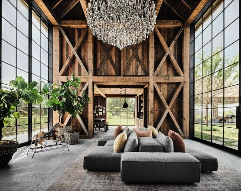 Ashton Kutcher and Mila Kunis' entertainment barn