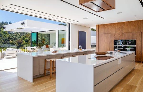 Kitchen of John Legend and Chrissy Teigen's house