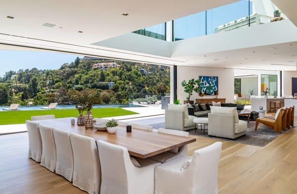 Dining room of John Legend and Chrissy Teigen's house