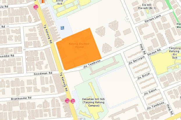 Map of Jalan Tembusu site