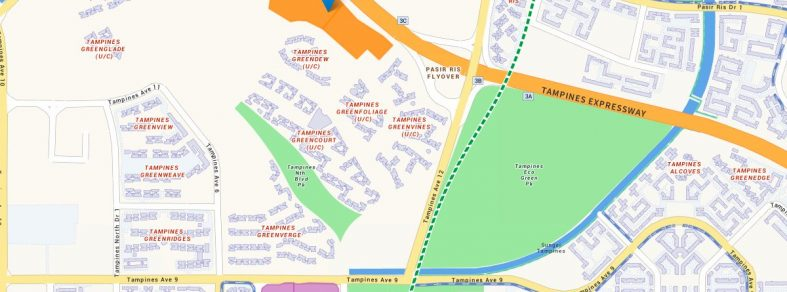 Map of Tampines Street 62 Parcel B EC site