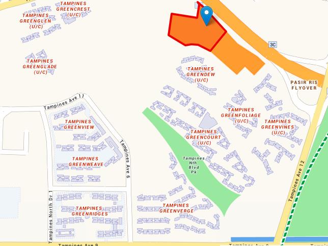 Map of Tampines Street 62 Parcel B