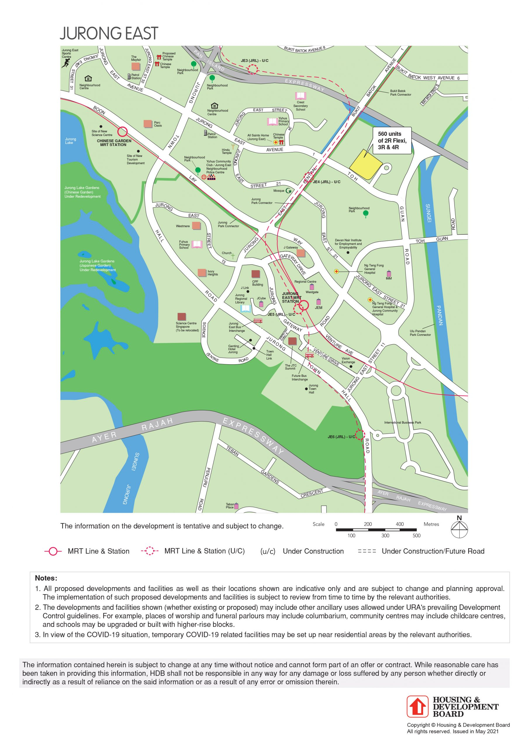Full map of August 2021 Jurong East BTO