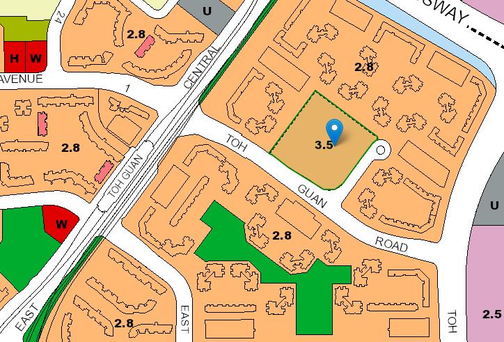 URA master plan of Jurong East BTO