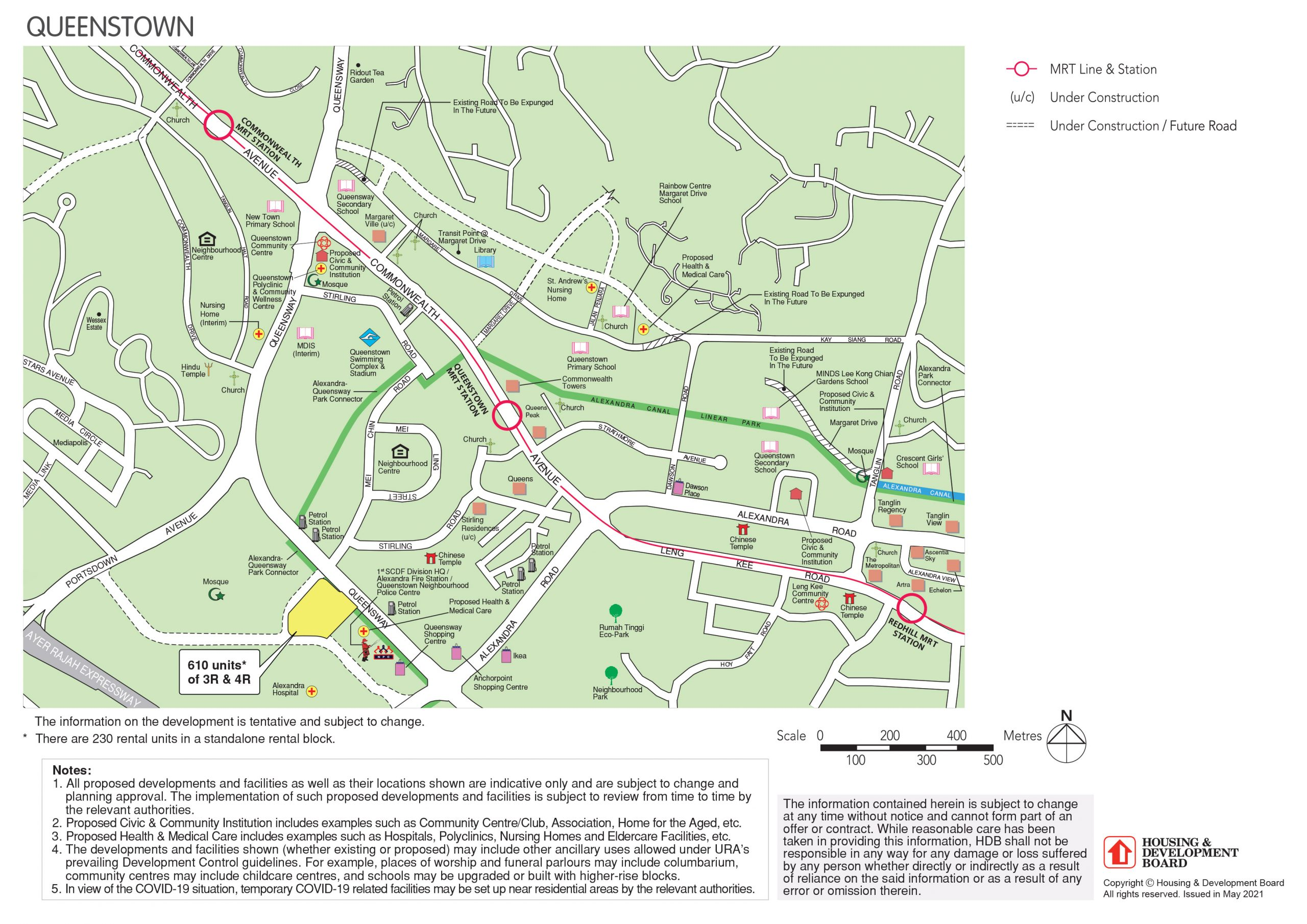 Full map of August 2021 Queenstown BTO