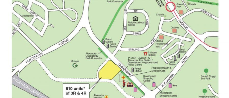 Queenstown BTO map