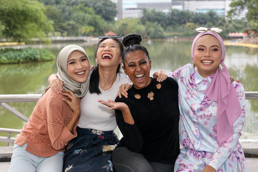 A group of racially diverse women