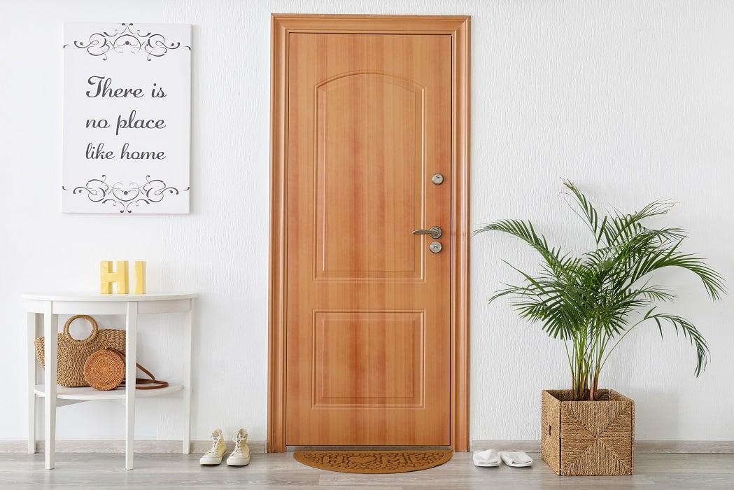 Interior,Of,Modern,Stylish,Hallway,With,Door,Mat