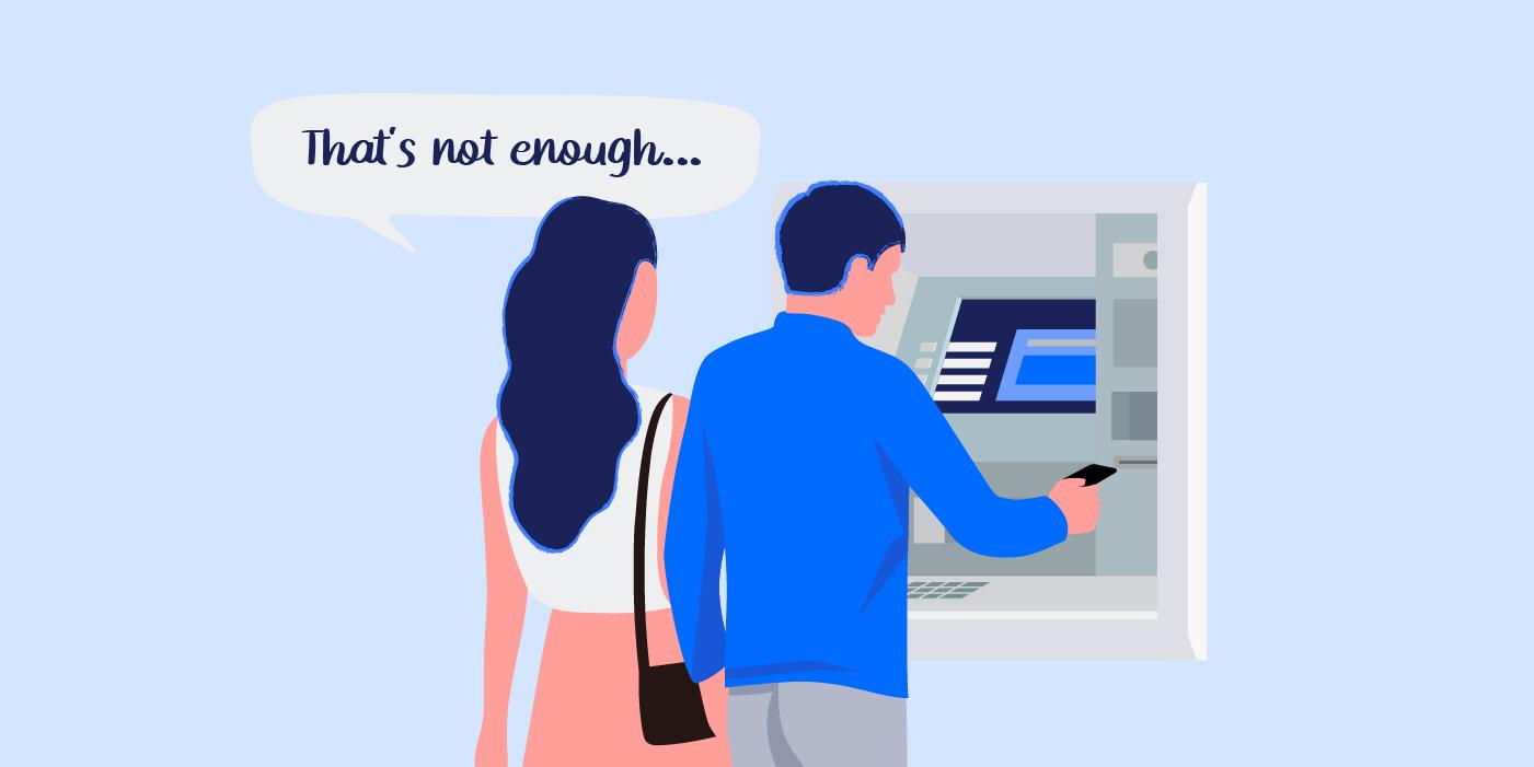 Couple checking their bank account balance