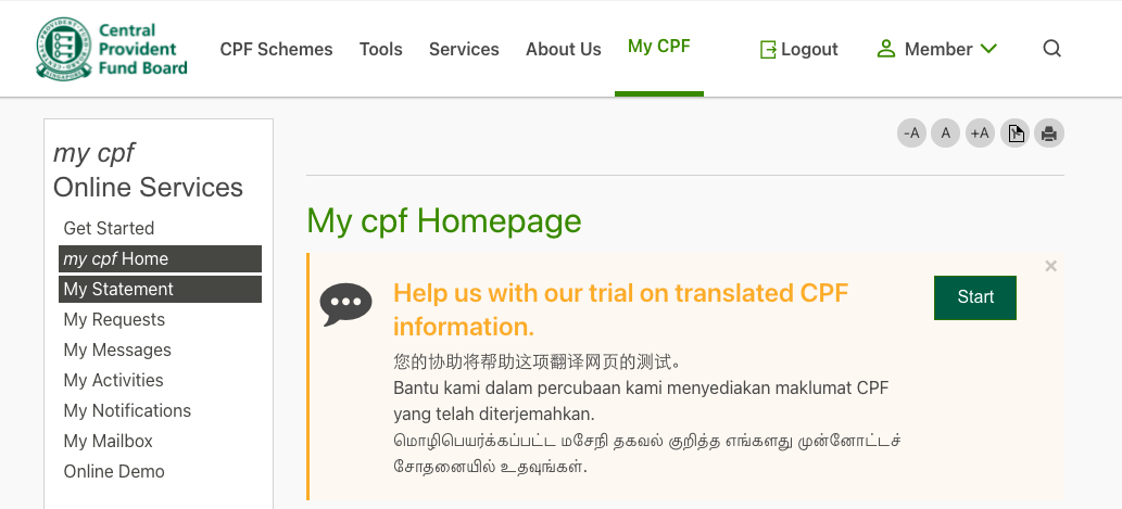 CPF homepage