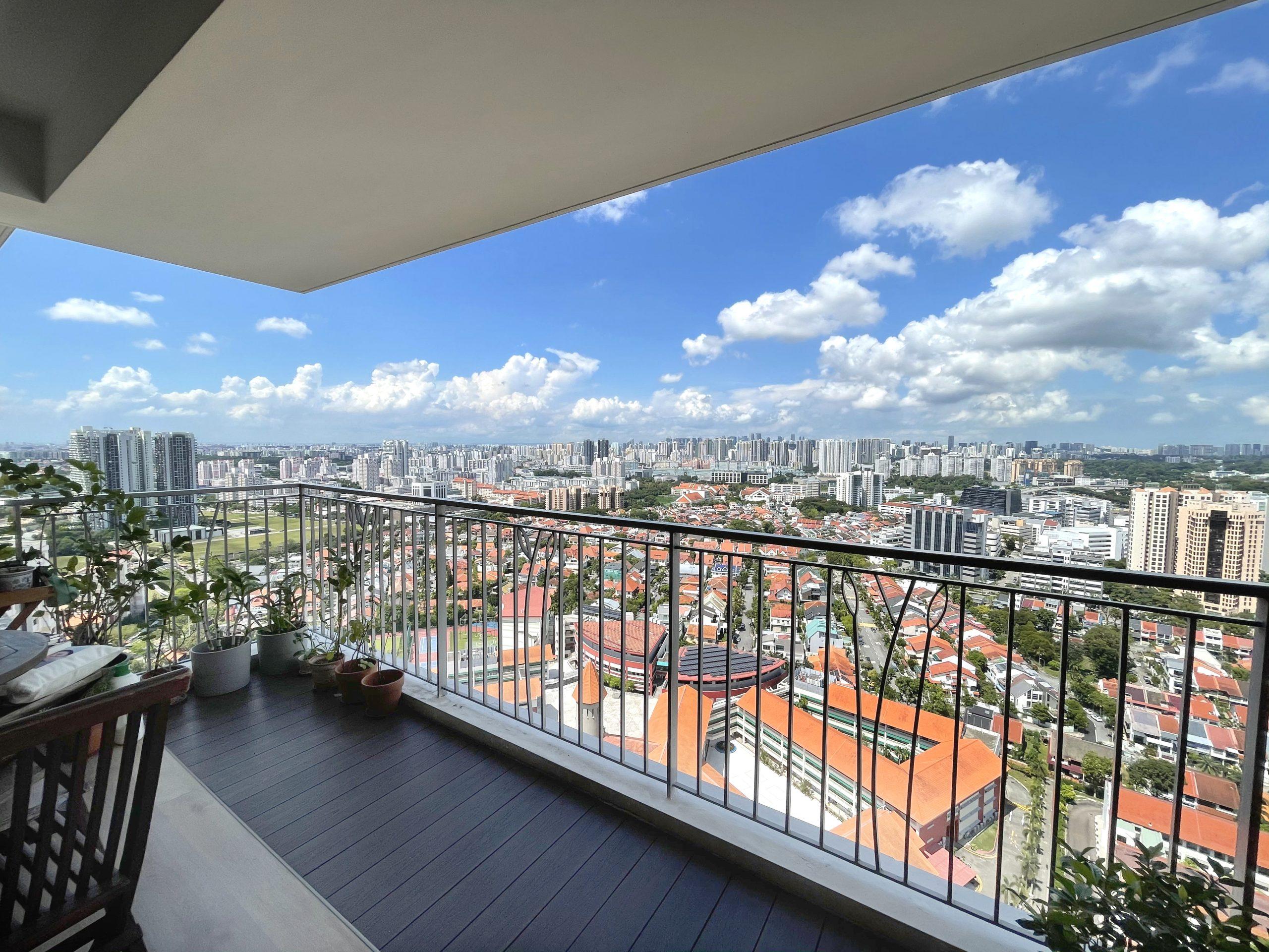 Balcony of the Natura Loft flat