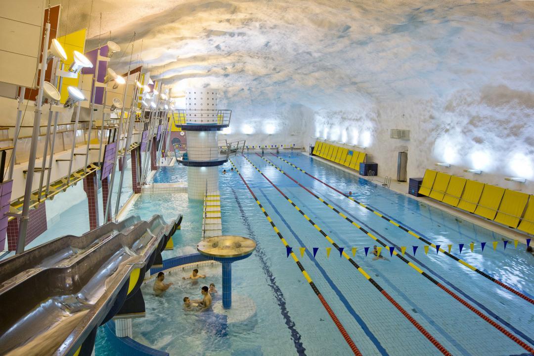 Itakeskus swimming hall in Helsinki