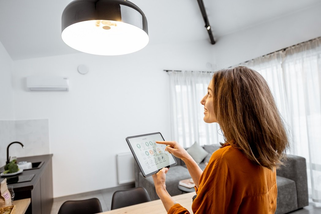 control lighting using smart tablet device energy efficient