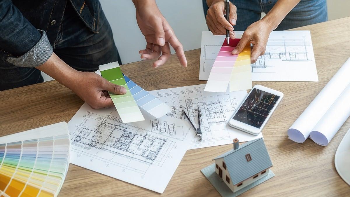 colour palette renovation wall designs architect blueprint