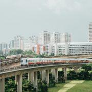 HDB blocks and MRT