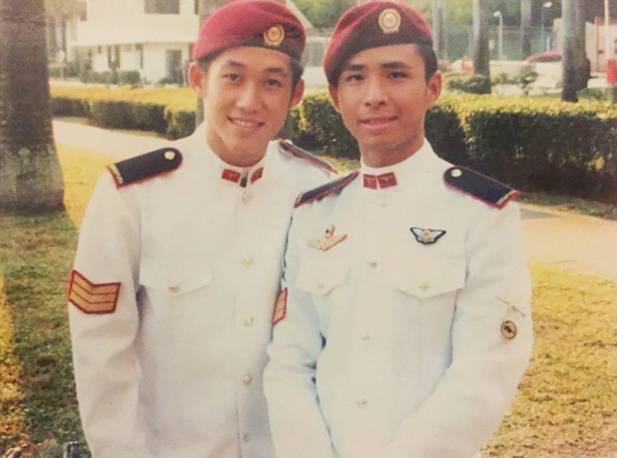 Eugene Lim in uniform
