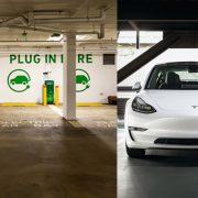 EV Charging Station Tesla Car