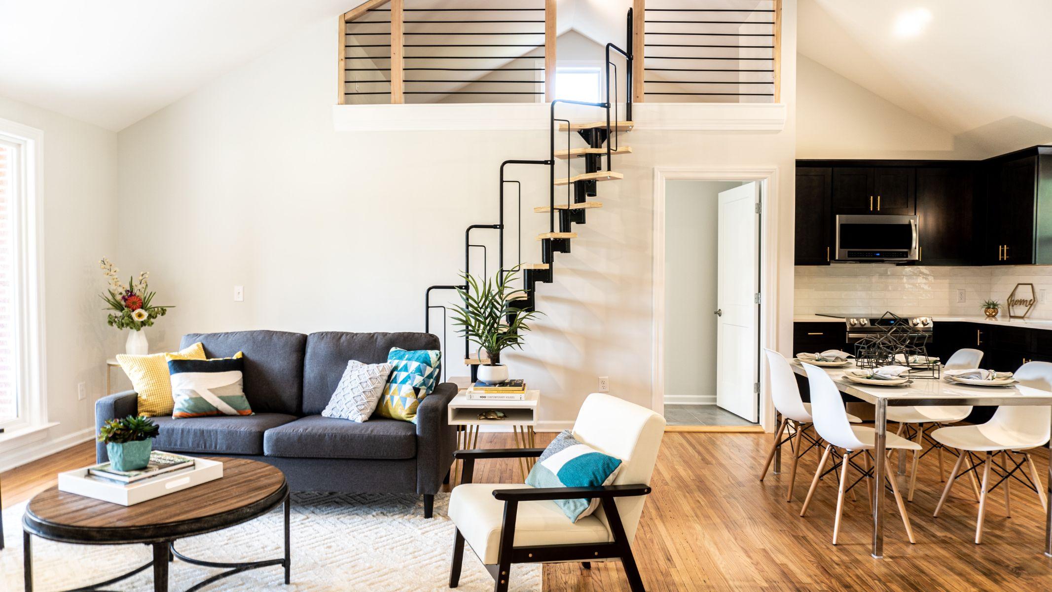 Trendy apartment interior