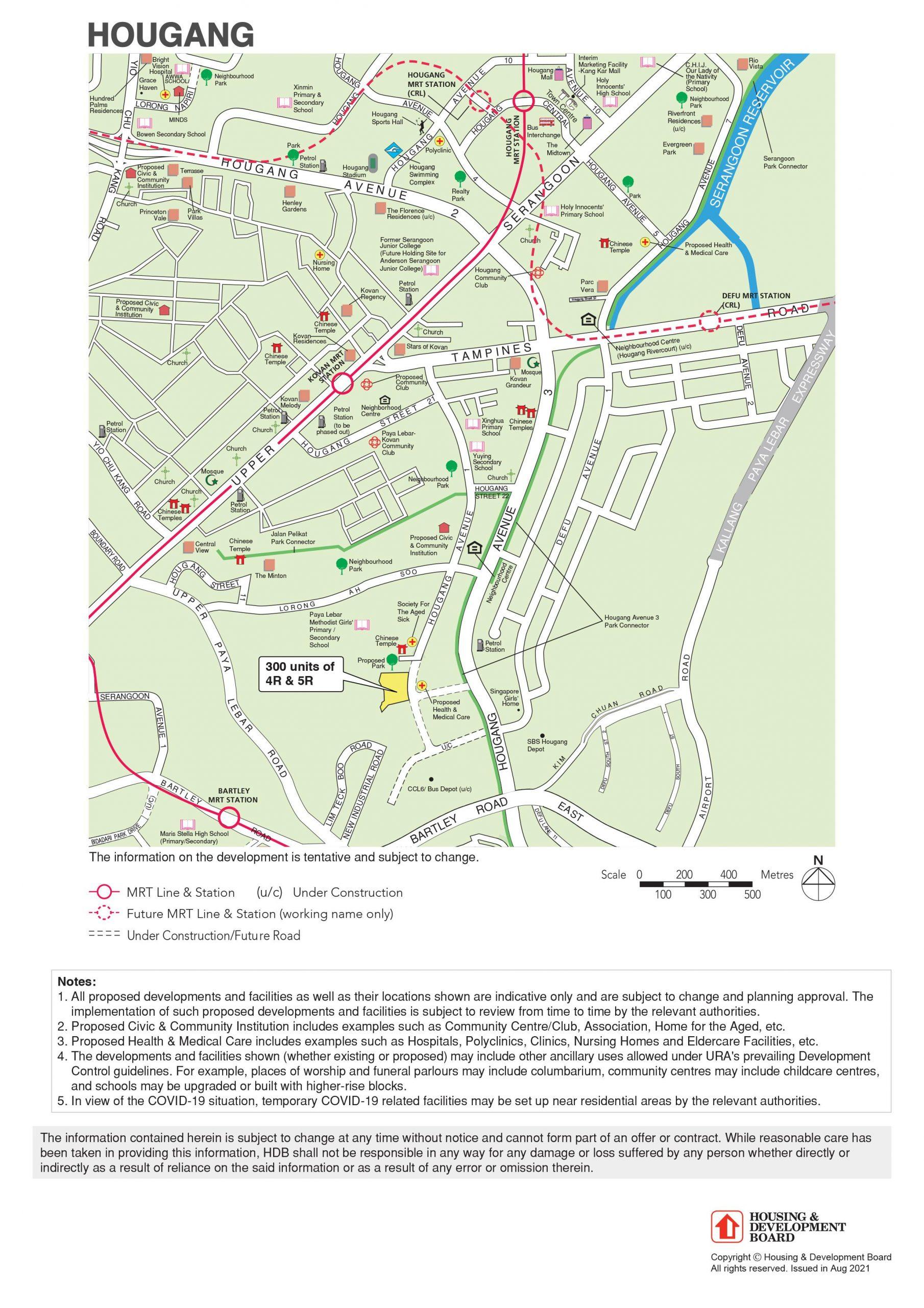 Hougang Avenue 1 BTO full map