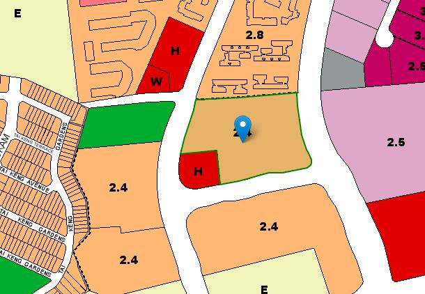 URA master plan of Hougang Avenue 3 BTO